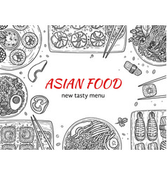 asian cuisine japan traditional restaurant vector image