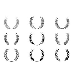 Black laurel wreath - a symbol of the winner vector