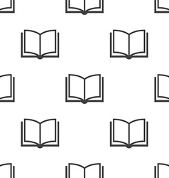 book seamless pattern vector image