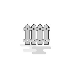 boundary web icon flat line filled gray icon vector image