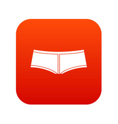 boyshorts icon digital red vector image