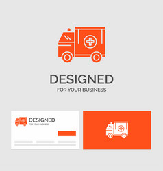 Business logo template for ambulance truck vector