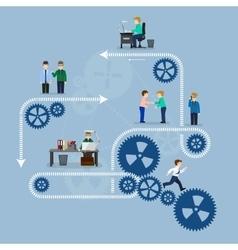 business office teamwork vector image