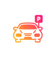 Car parking icon auto park sign vector