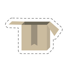 Cartoon cardboard box delivery vector