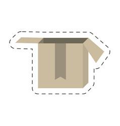 cartoon cardboard box delivery vector image