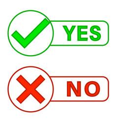 check marks yes and no vector image
