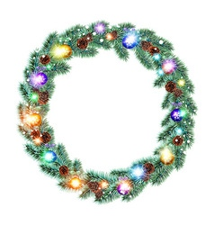 Christmas Wreath balls isolated white background vector