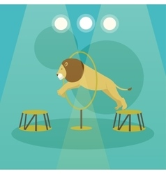 Circus concept banner acrobats and artists vector