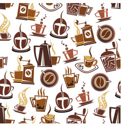 coffee and beans pattern vector image