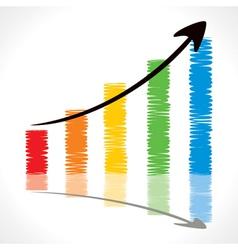 Color pencil draw market graph vector