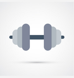 Colored barbell cute symbol eps 10 vector