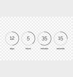 Countdown clock counter digital timer vector