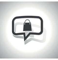 Curved shopping message icon vector image
