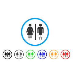 Disabled wc persons rounded icon vector