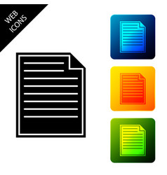 document icon isolated on white background file vector image