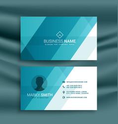 Elegant clean blue business card design vector
