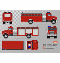 Fire truck template vector