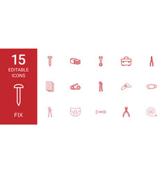 fix icons vector image