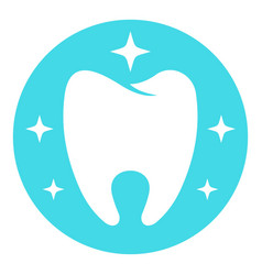 flawless tooth logo icon flat style vector image