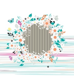 Floral frame insert your photo here vector