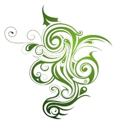 Floral shape vector image