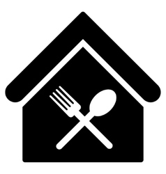 Food Court Flat Icon vector image