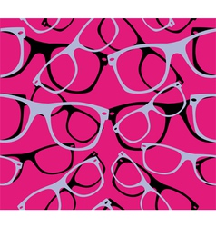 Glasses seamless pattern retro sunglasses vector