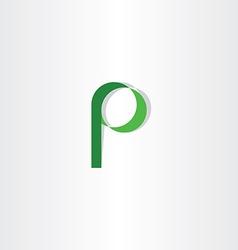 green p letter symbol logotype element icon vector image