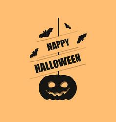 happy halloween october 31st hanging pumpkin and vector image