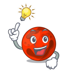 Have an idea mars planet mascot cartoon vector