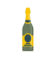 holiday champagne icon flat style vector image