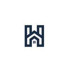 home letter h logo icon design vector image