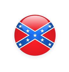 Icon with flag confederate rebel - csa symbol vector