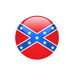 Icon with flag of confederate rebel - csa symbol vector