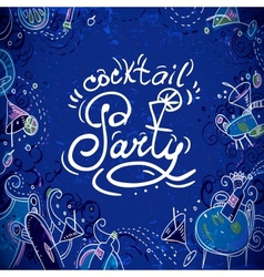Invitation card to cocktail party vector image