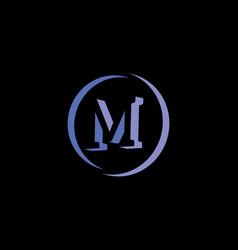 M letter 3d vector