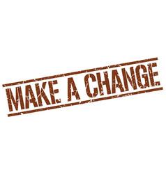 Make a change stamp vector