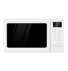 microwave oven flat design vector image