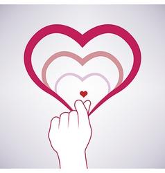 Mini heart symbol vector