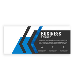 modern blue black design business banner im vector image