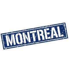 montreal blue square stamp vector image