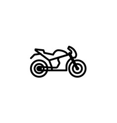 motorcycle icon line style icon vector image