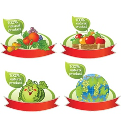 Natural food banners vector image