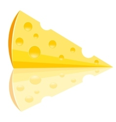 Piece of the cheese vector