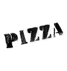 pizza rubber stamp vector image