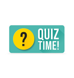 quiz time color speech bubble on white background vector image
