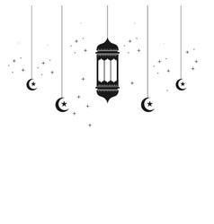 Ramadan lantern template design vector