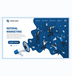 referral marketing concept refer a friend vector image