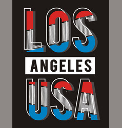 Retro los angeles usa vector